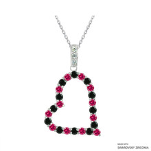Heart Necklace Made With Swarovski Zirconia (NZ001-M3)