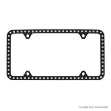 Black Powder Coated Zinc Bling Frame (4H) Embellished With Swarovski Crystals