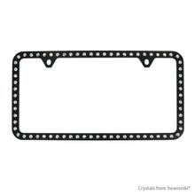 Black Powder Coated Zinc Bling Frame (2H) Embellished With Swarovski Crystals