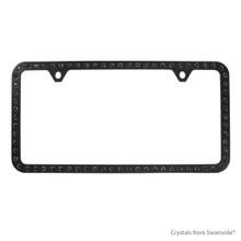 Black Powder Coated Zinc Bling Frame (2H) Embellished With Swarovski Crystals (LFZCY501-SB-2H)