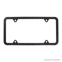 Black Powder Coated Zinc Bling Frame (4H) Embellished With Swarovski Crystals (LFZCY501-SB-4H)