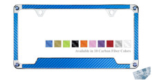 Carbon Fiber Vinyl Insert License Frame Made With Swarovski Zirconia®