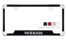 Nissan License Plate Frame With Carbon Fiber Vinyl Insert