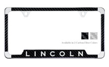 Lincoln License Plate Frame With Carbon Fiber Vinyl Insert