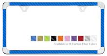 Plain Thin Rim License Plate Frame With Carbon Fiber Insert