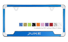 Nissan Juke License Plate Frame With Carbon Fiber Vinyl Insert