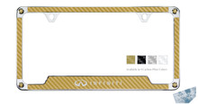 Infiniti Carbon Fiber Vinyl Insert License Frame Made With Swarovski Zirconia®