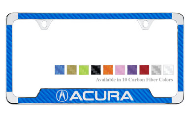 Acura License Plate Frame With Carbon Fiber Vinyl Insert - Acura license plate frame