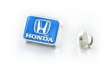 Honda Blue Zinc Chrome Plated Lapel Pin