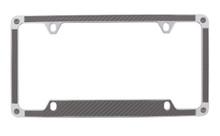 Grey Carbon Fiber Vinyl Inlay License Plate Frame Embellished With Swarovski® Crystals