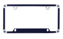Blue Brush Vinyl Inlay License Plate Frame Embellished With Swarovski® Crystals