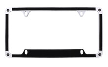 Black Brush Textured Vinyl Inlay License Plate Frame Embellished With Swarovski® Crystals