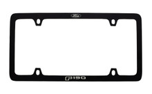 Ford Black Powder Coated Zinc License Plate Frame With Logo And F150 Imprint In White