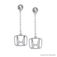 Honda Earring Embellished With Swarovski® Crystals
