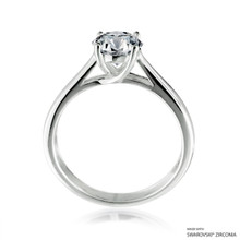Classy 1 Carat White Solitaire Ring Made With Swarovski Zirconia