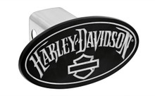 Harley-Davidson® Hitch Cover With Matte Black Powder Coated Oval Emblem