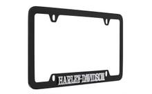 Harley-Davidson® Matte Black Brass Engraved License Plate Frame (HDLFKEP392)