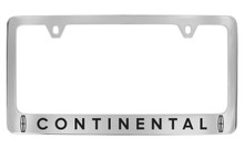 Lincoln Continental metal license frame with logo & wordmark. Quality craftsmanship and best on the market. Durable for harsh weather. Standard US frame size. Official licensed product.