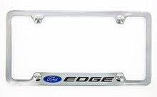 Ford Edge metal license plate frame. Quality craftsmanship and best on the market. Durable for harsh weather. Standard US frame size. Official licensed product.
