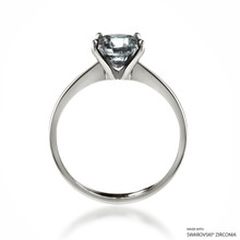 Classic 2 Carat White Solitaire Ring Made With Swarovski Zirconia
