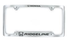 Honda RIDGELINE metal license frame. Quality craftsmanship and best on the market. Durable for harsh weather. Standard US frame size. Official licensed product.