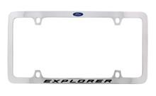 Ford Explorer with Logo Thin Rim Chrome Plated Metal License Plate Frame Holder