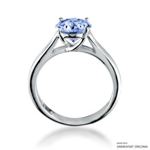 Eternity Love 2 Carat Fancy Blue Solitaire Ring Made With Swarovski Zirconia