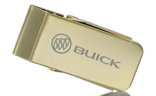 Buick With Logo Gold Plated Money Clip