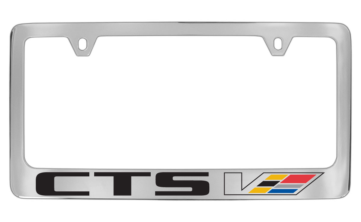 Cadillac CTS V Block Letters License Plate Frame