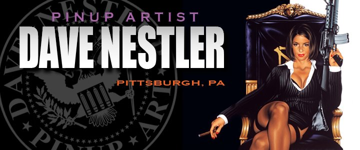 Dave Nestler Pin Up Art Logo