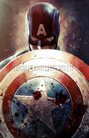 Daniel Murray Cap and Shield Comic Book Art Signed Print
