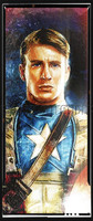 Daniel Murray Captain America Portrait Signed Print Pearl