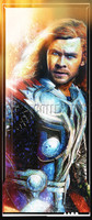 Daniel Murray Thor Odinson Portrait Signed Matte Print 8.5x11