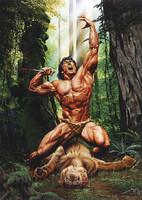 Joe Jusko Tarzan, Lord of the Jungle Signed Print