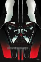 Darth Vader Portrait Signed Print Pearl Metallic Daniel Murray