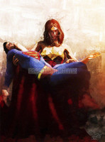 Wonder Woman Superman Pieta Signed Print Daniel Murray