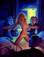 Greg Hildebrandt: Alien Abduction Signed Pin Up Print