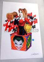 Dave Nestler Harley Quinn Whack in the Box Signed Print