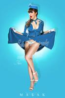 Claire Sinclair - Stewardess Claire Print Malak