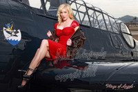 Wings of Angels Pin Up Caitlin in Red Malak