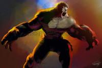 Bruce Banner The Hulk Signed Print Daniel Murray
