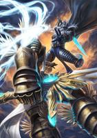 Tyrael vs Arthas Signed Print Warren Louw
