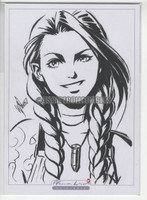 Jinx B&W Original Drawing w/COA by Warren Louw