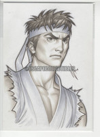 Ryu Original Drawing by Warren Louw