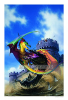 Dragon at War Signed Print Den Beauvais