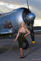 Wings of Angels Caitlin Litzinger and the T6 Texan WWII Plane II Print Malak