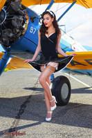 Wings of Angels Sexy Jessie IV Stearman Biplane Print Malak
