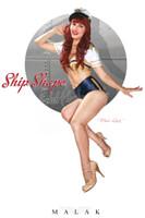 Lisa Marie Ship Shape Pin Up Print Malak