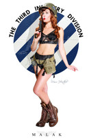 Miss Heather Third Infantry Division Pin Up Print Malak