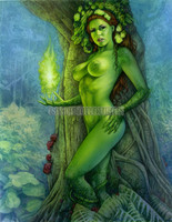 Green Goddess Signed Print Moore